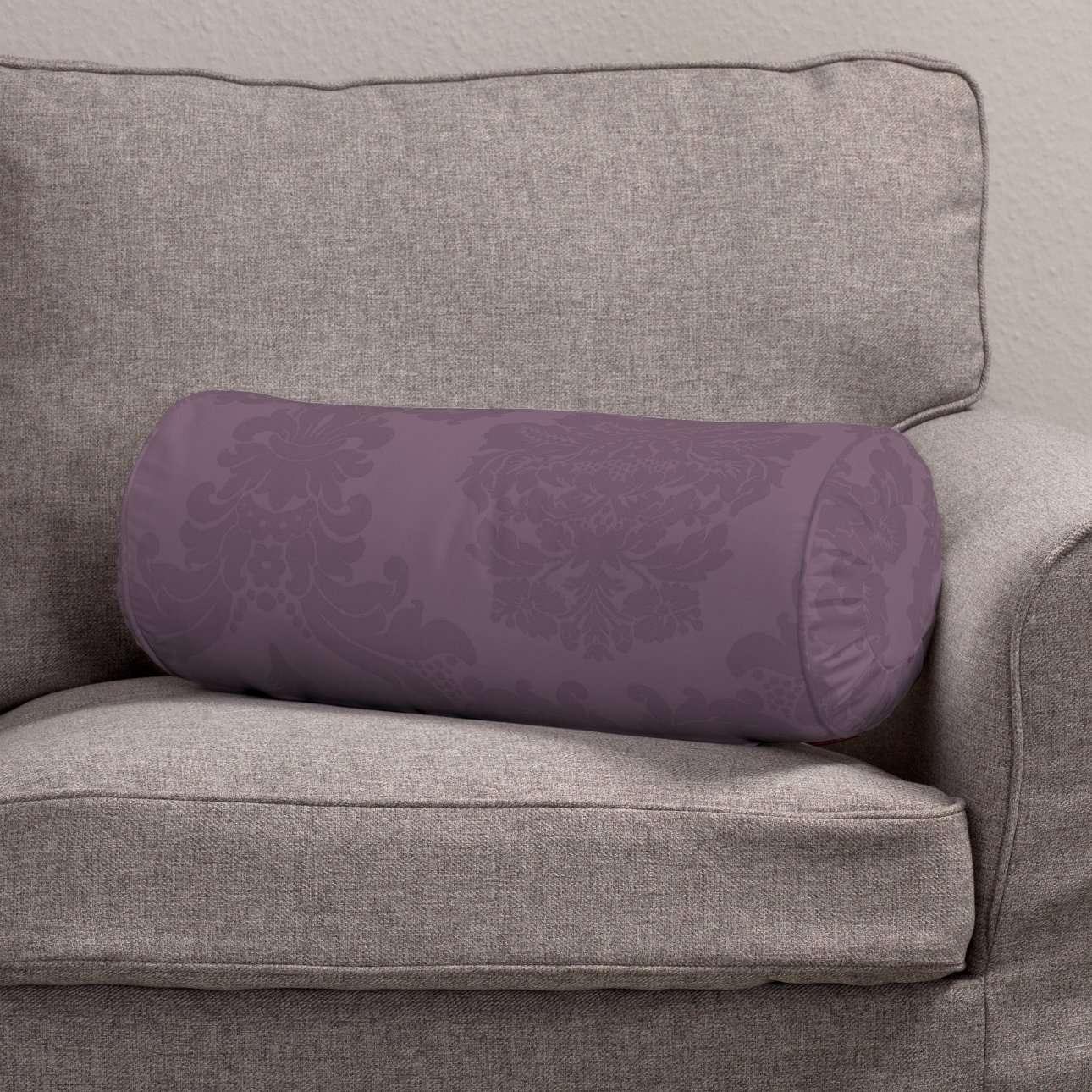 Ritinio formos  pagalvėlės užvalkalas su klostėmis Ø 20 x 50 cm kolekcijoje Damasco, audinys: 613-75