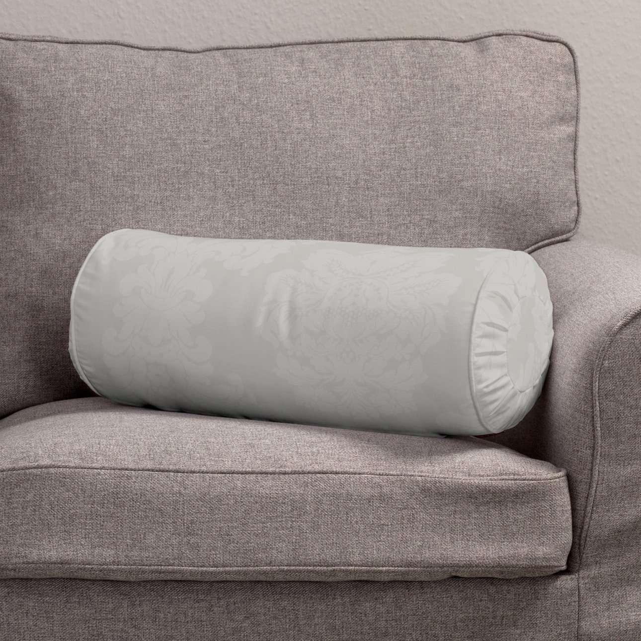 Ritinio formos  pagalvėlės užvalkalas su klostėmis Ø 20 x 50 cm kolekcijoje Damasco, audinys: 613-81