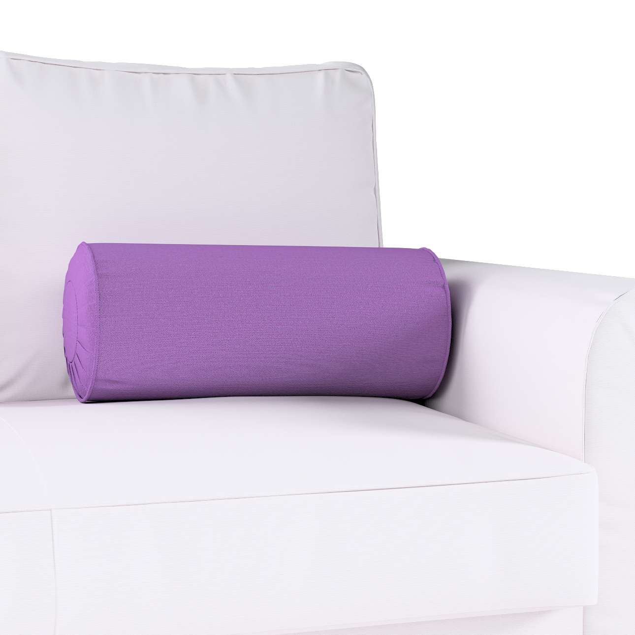 Bolster cushion with pleats Ø 20 × 50 cm (8 × 20 inch) in collection Loneta , fabric: 133-19
