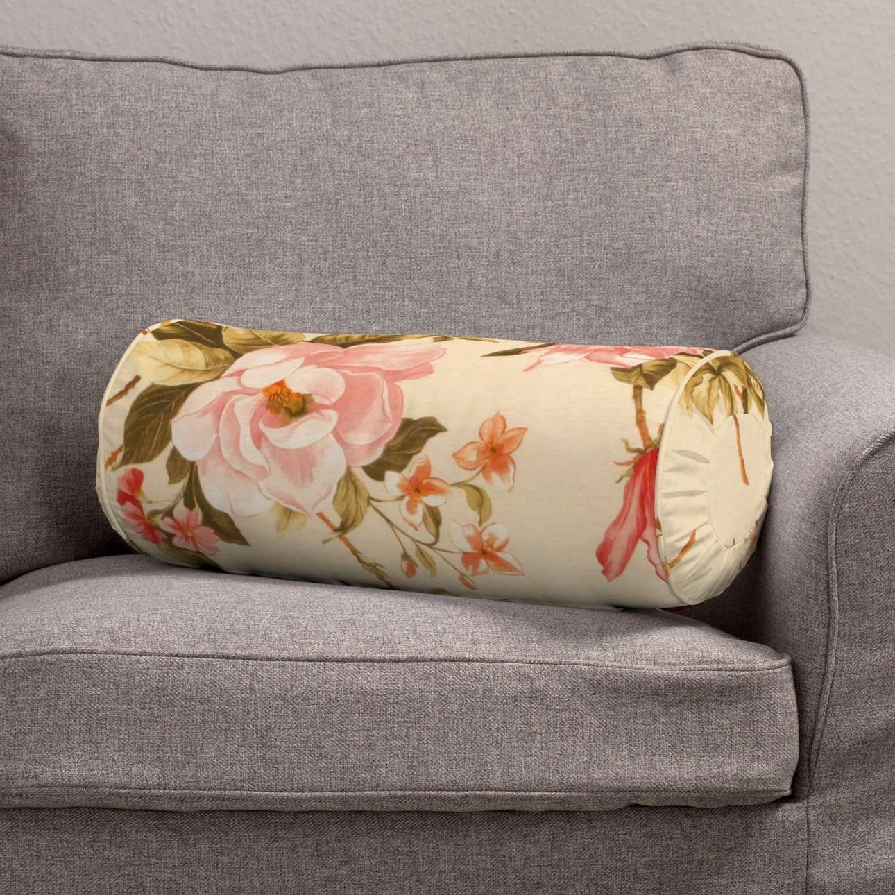 Poduszka wałek z zakładkami w kolekcji Londres, tkanina: 123-05