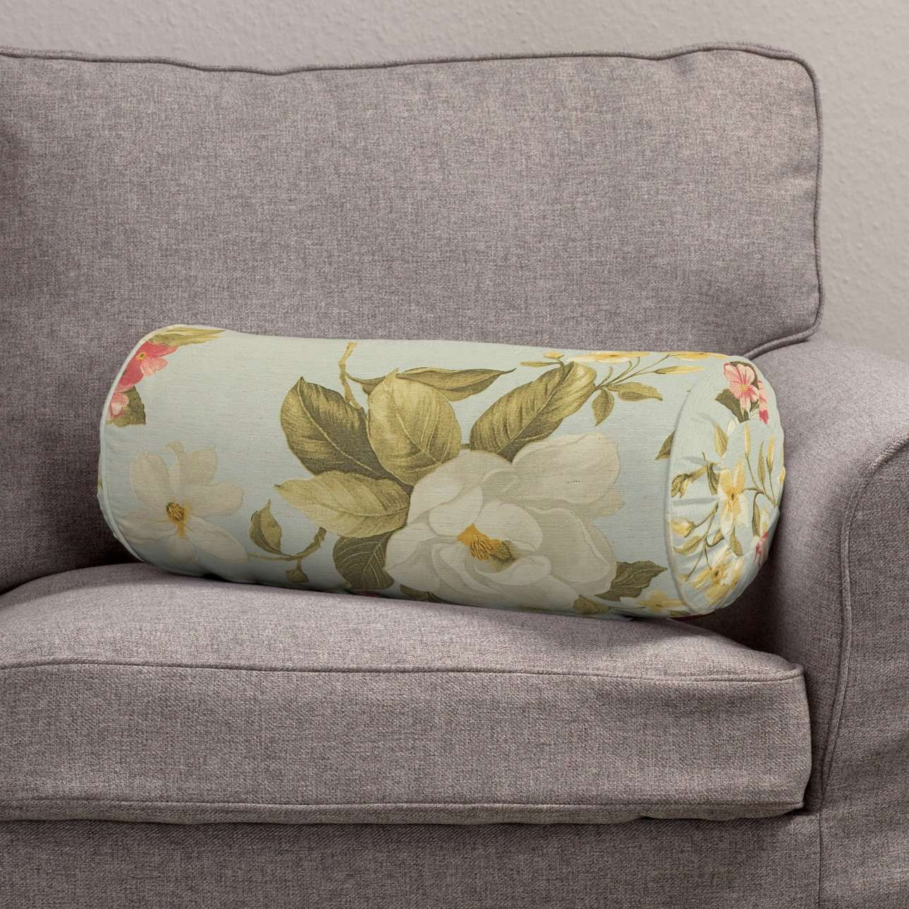 Poduszka wałek z zakładkami w kolekcji Londres, tkanina: 123-65