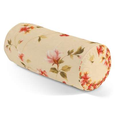 Poduszka wałek z zakładkami 124-05 kwiatki na kremowym tle Kolekcja Londres