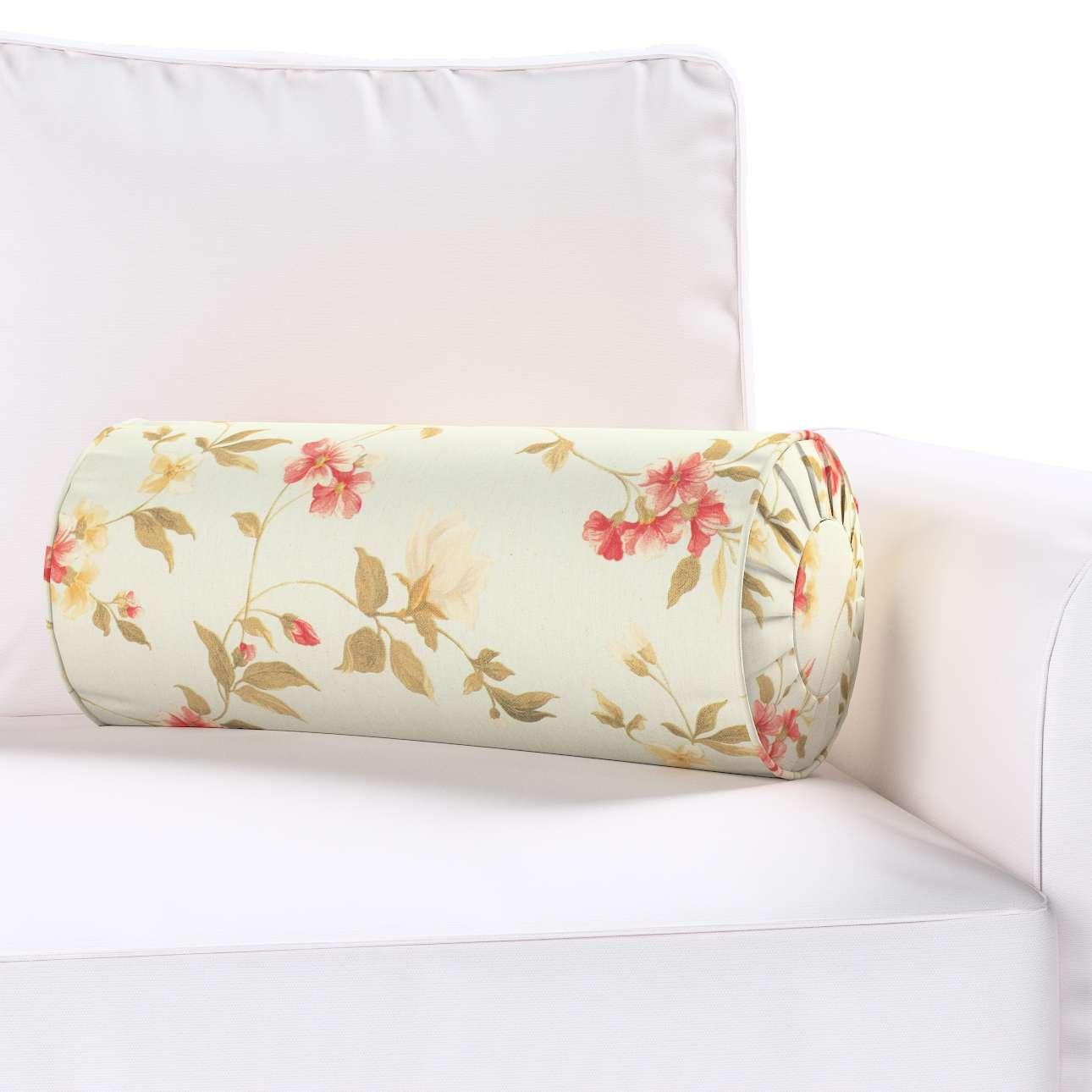 Poduszka wałek z zakładkami Ø20x50cm w kolekcji Londres, tkanina: 124-65