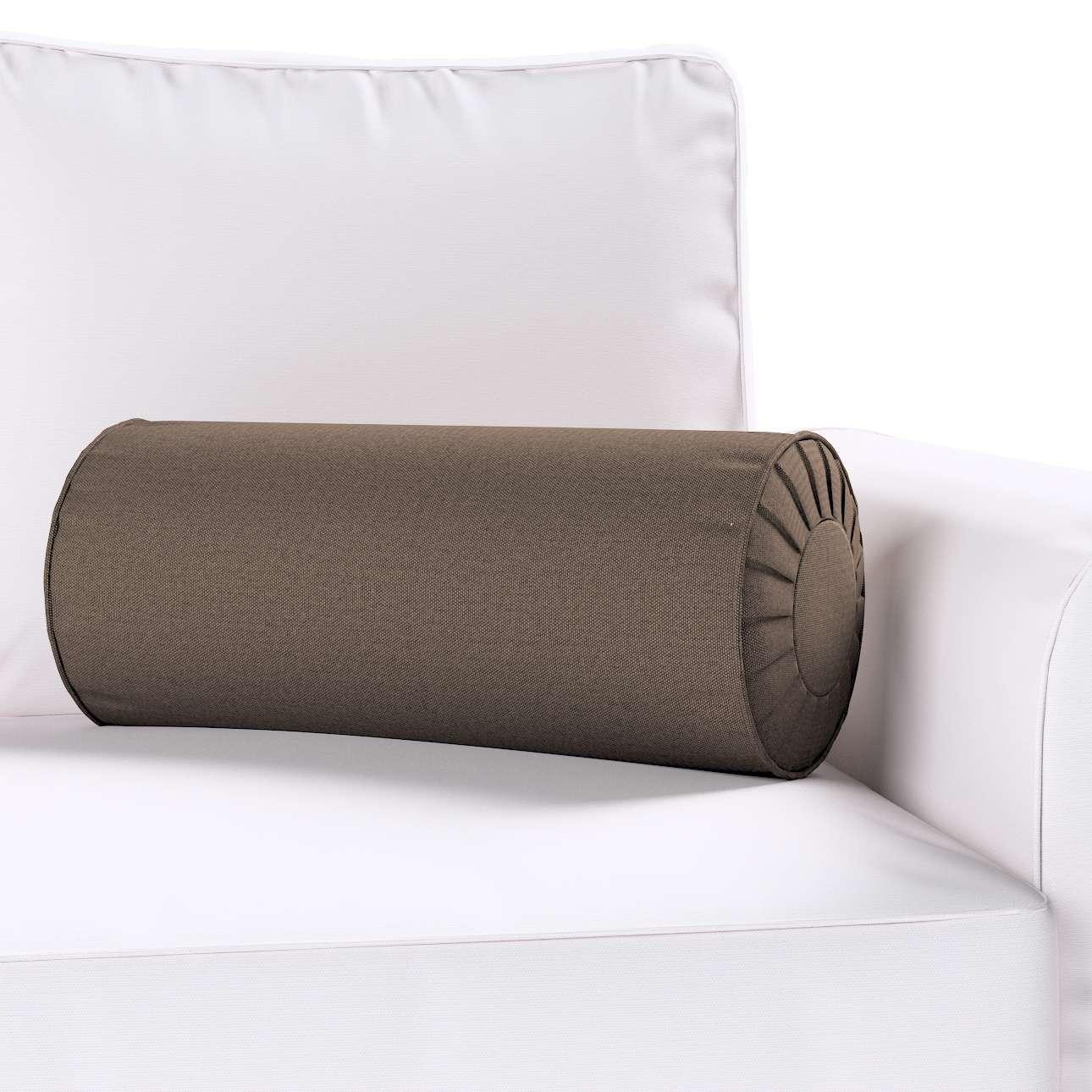 Ritinio formos  pagalvėlės užvalkalas su klostėmis Ø 20 x 50 cm kolekcijoje Etna , audinys: 705-08