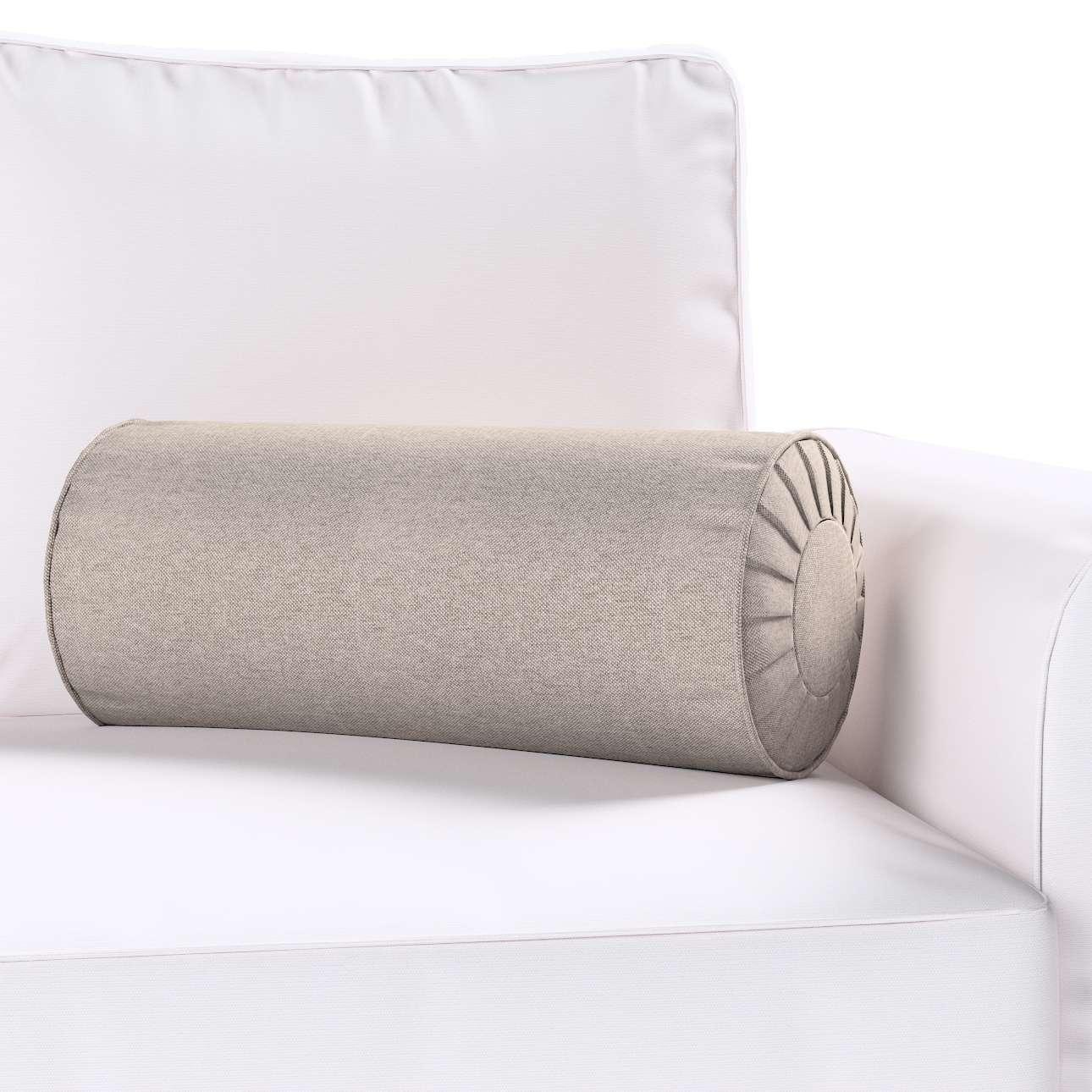 Poduszka wałek z zakładkami Ø20x50cm w kolekcji Etna , tkanina: 705-09