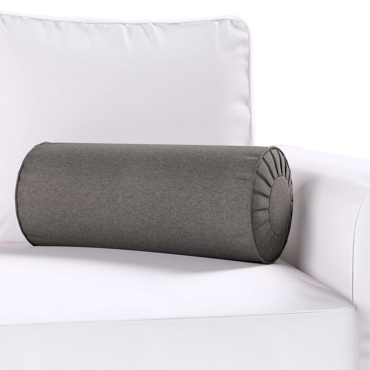 Ritinio formos  pagalvėlės užvalkalas su klostėmis Ø 20 x 50 cm kolekcijoje Etna , audinys: 705-35