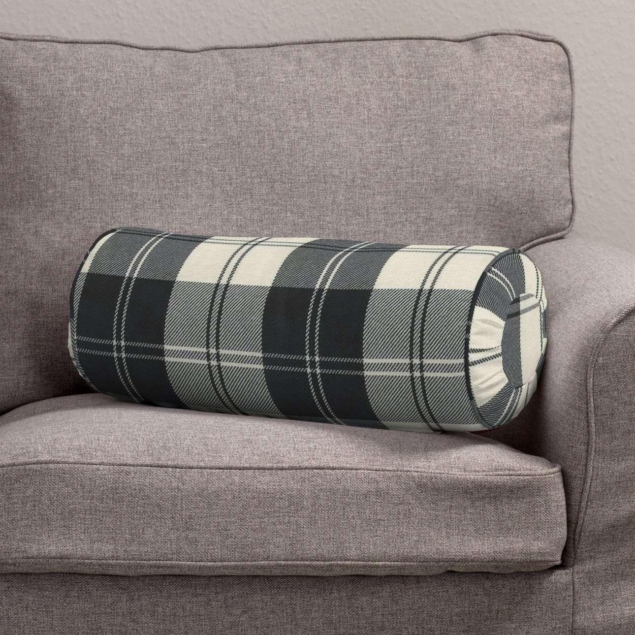 Poduszka wałek z zakładkami Ø20x50cm w kolekcji Edinburgh, tkanina: 115-74
