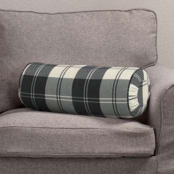 Bolster cushion with pleats Ø 20 x 50 cm (8 x 20 inch) in collection Edinburgh, fabric: 115-74