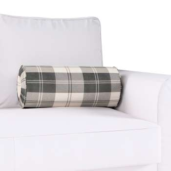 Bolster cushion with pleats Ø 20 x 50 cm (8 x 20 inch) in collection Edinburgh, fabric: 115-74