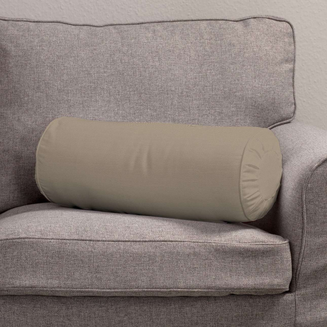 Nackenrolle mit Falten Ø 20 x 50 cm von der Kollektion Cotton Panama, Stoff: 702-28
