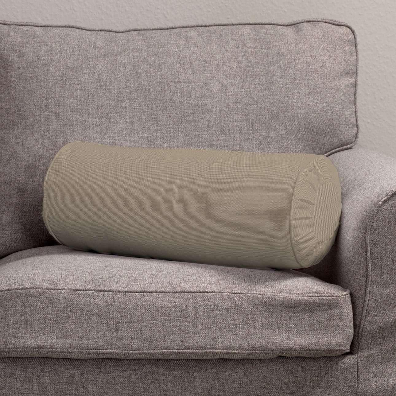 Poduszka wałek z zakładkami w kolekcji Cotton Panama, tkanina: 702-28