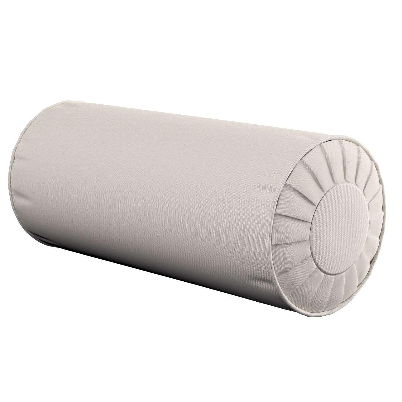 Poduszka wałek z zakładkami Ø20x50cm w kolekcji Cotton Panama, tkanina: 702-31