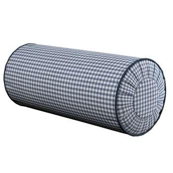 Poduszka wałek z zakładkami Ø20x50cm w kolekcji Quadro, tkanina: 136-00