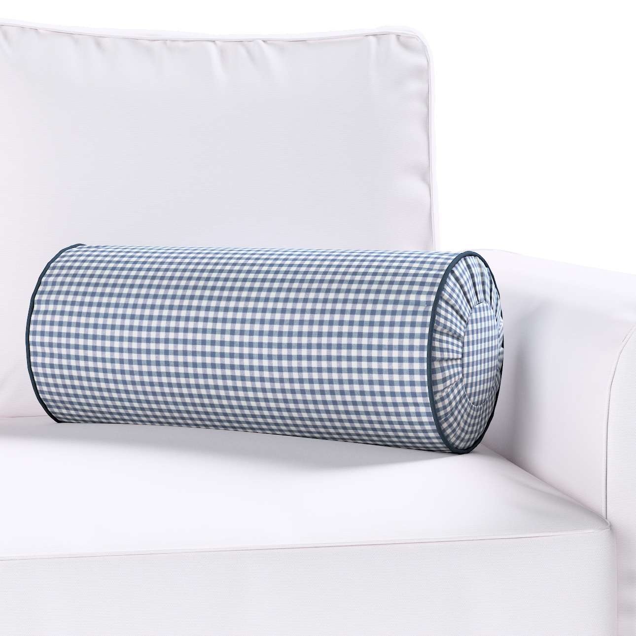 Bolster cushion with pleats in collection Quadro, fabric: 136-00