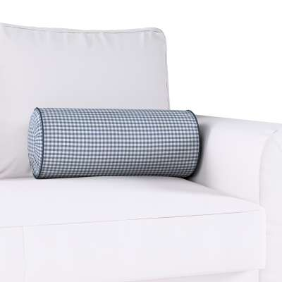 Poduszka wałek z zakładkami w kolekcji Quadro, tkanina: 136-00