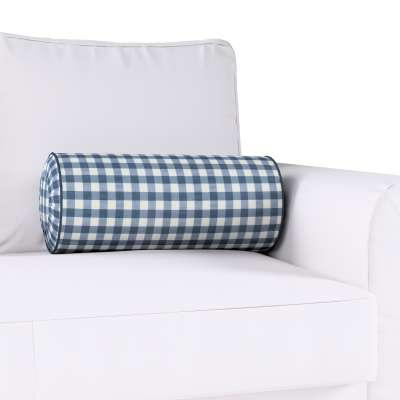 Poduszka wałek z zakładkami w kolekcji Quadro, tkanina: 136-01
