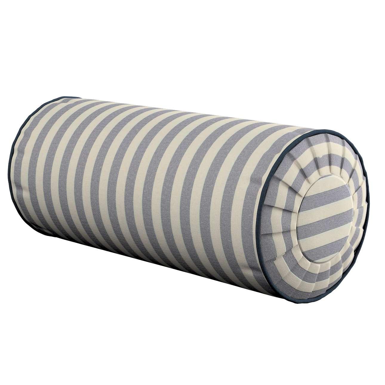 Ritinio formos  pagalvėlės užvalkalas su klostėmis Ø 20 x 50 cm kolekcijoje Quadro, audinys: 136-02