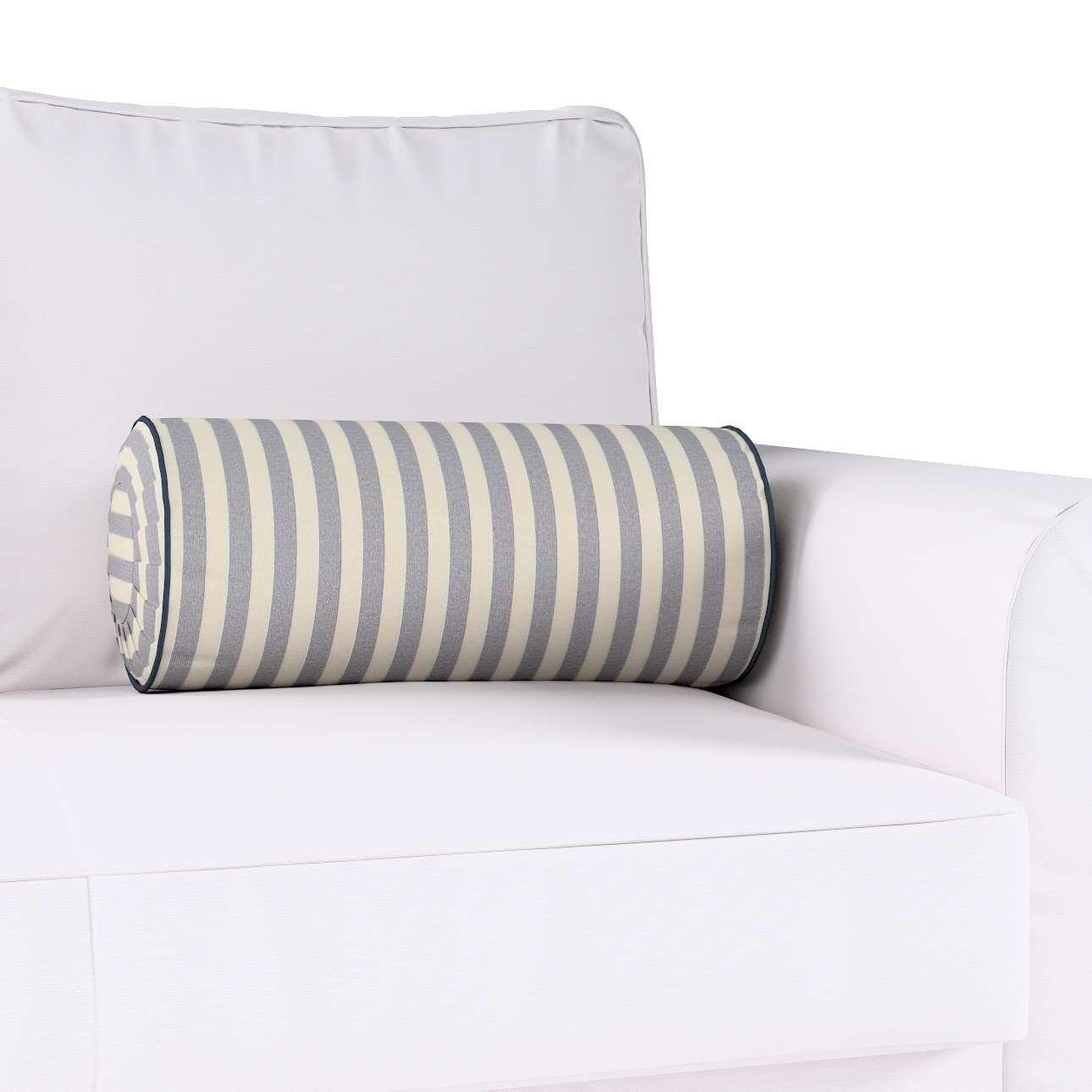 Poduszka wałek z zakładkami Ø20x50cm w kolekcji Quadro, tkanina: 136-02