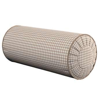 Ritinio formos  pagalvėlė su klostėmis Ø 20 × 50 cm kolekcijoje Quadro, audinys: 136-05