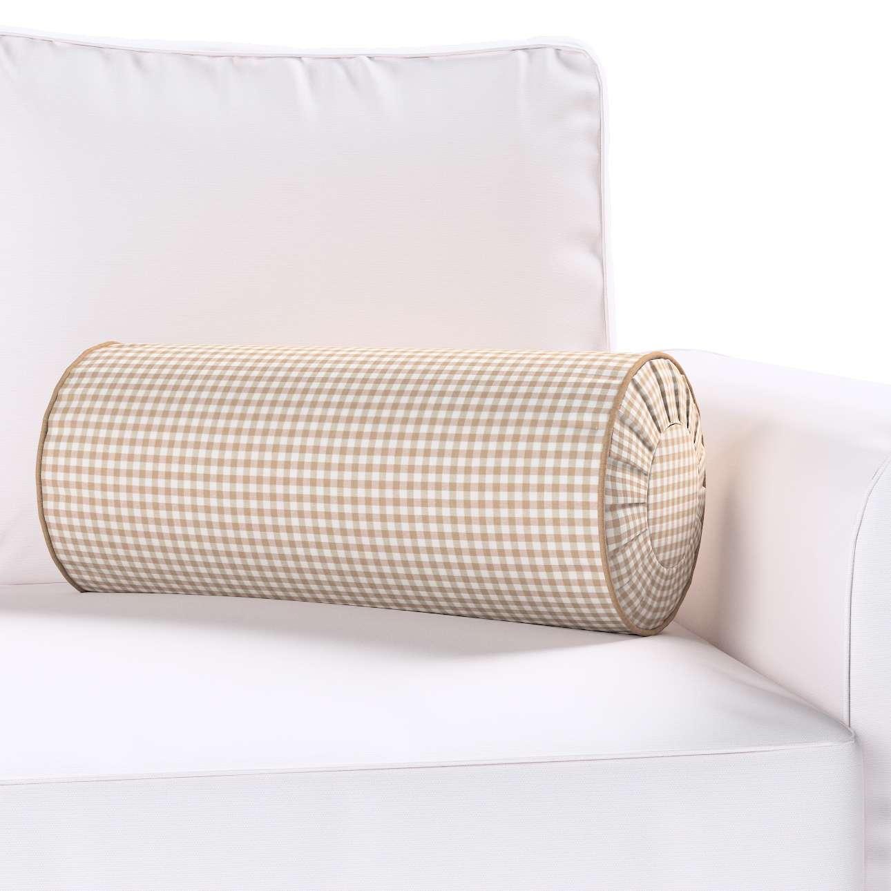 Poduszka wałek z zakładkami Ø 20 x 50 cm w kolekcji Quadro, tkanina: 136-05