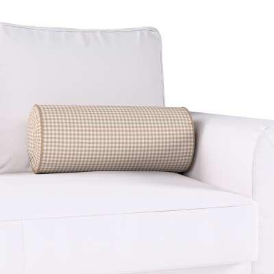 Poduszka wałek z zakładkami w kolekcji Quadro, tkanina: 136-05
