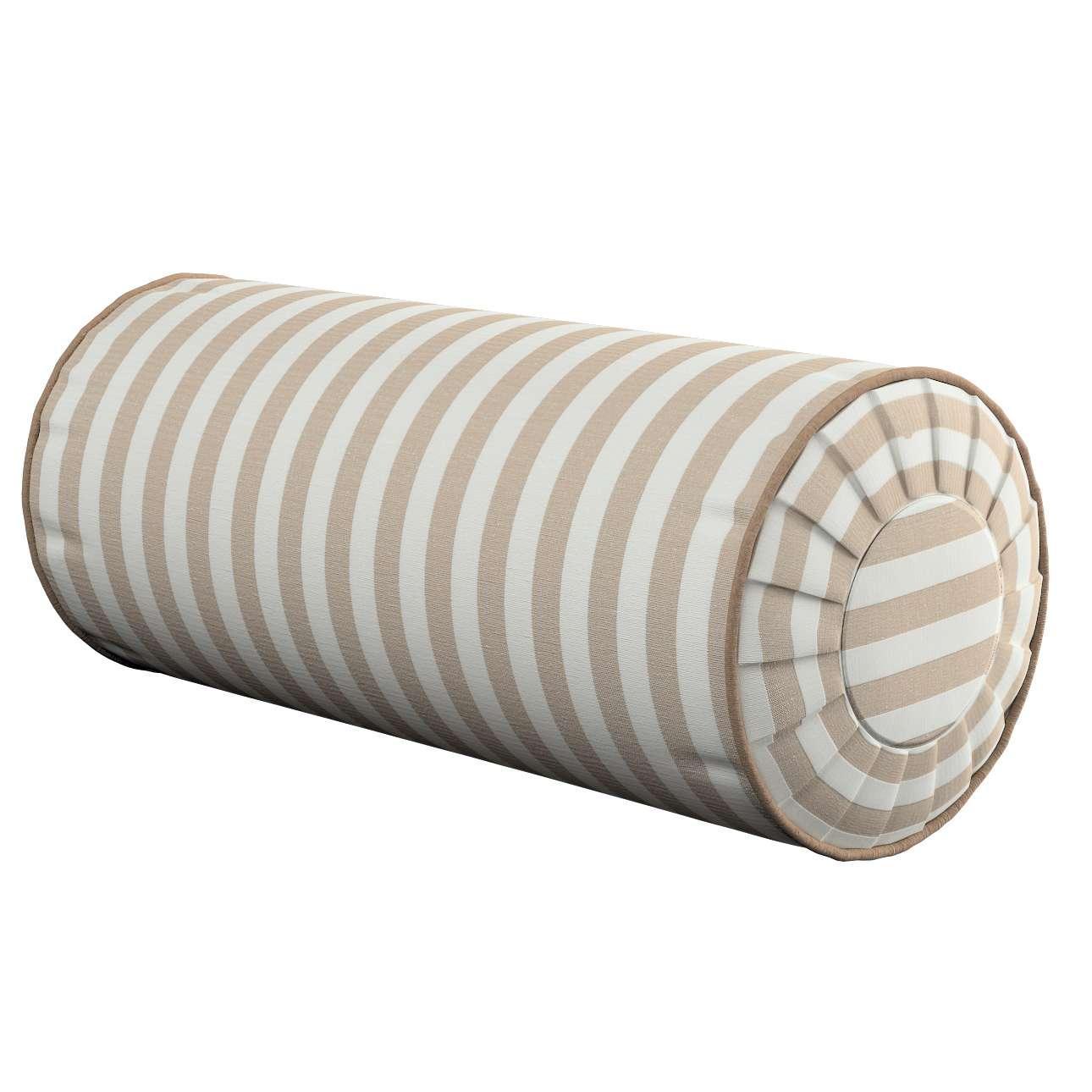 Nakkepute med folder Ø 20 x 50 cm fra kolleksjonen Quadro, Stoffets bredde: 136-07