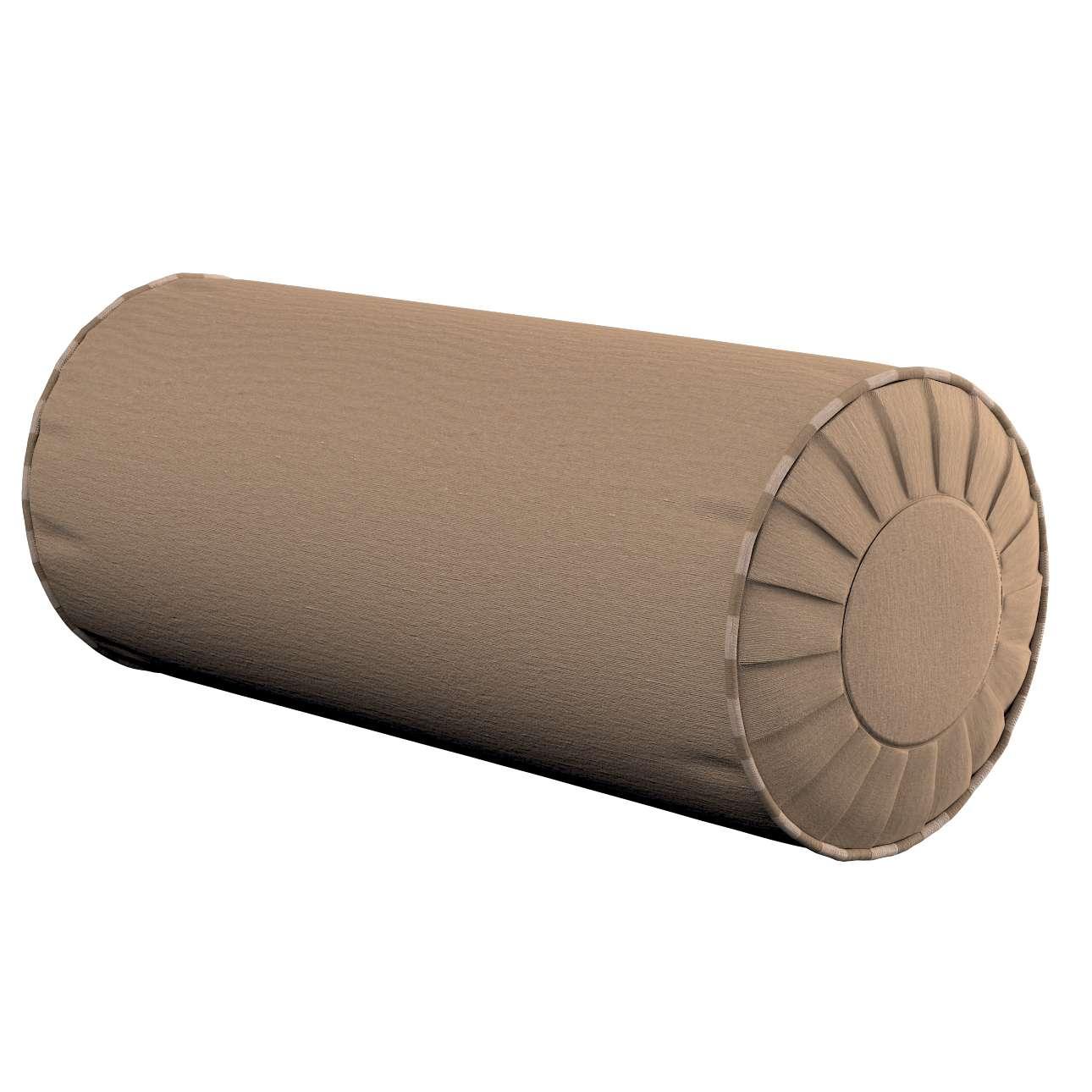 Ritinio formos  pagalvėlė su klostėmis Ø 20 x 50 cm kolekcijoje Quadro, audinys: 136-09