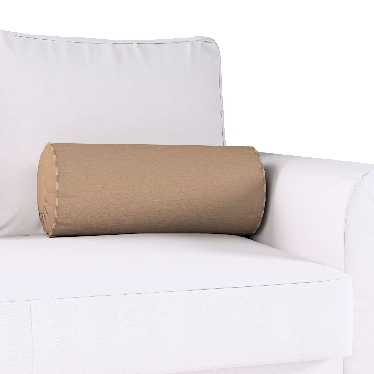 Bolster cushion with pleats in collection Quadro, fabric: 136-09