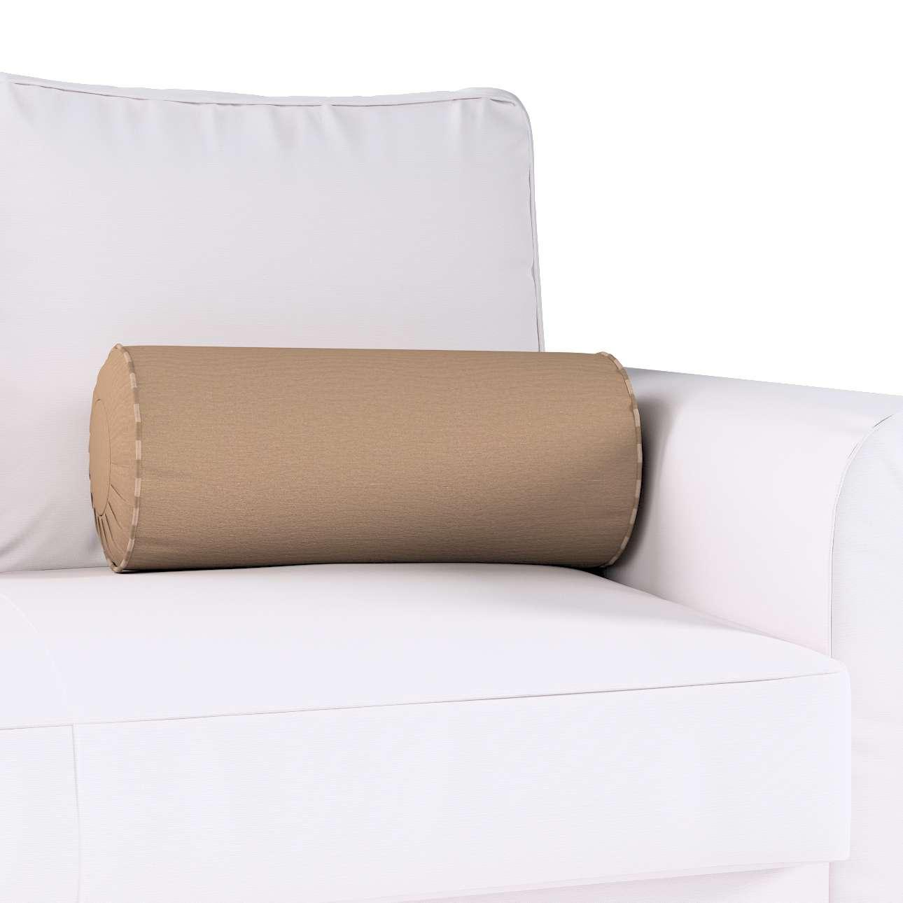 Poduszka wałek z zakładkami Ø20x50cm w kolekcji Quadro, tkanina: 136-09