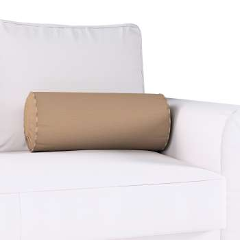 Bolster cushion with pleats Ø 20 x 50 cm (8 x 20 inch) in collection Quadro, fabric: 136-09