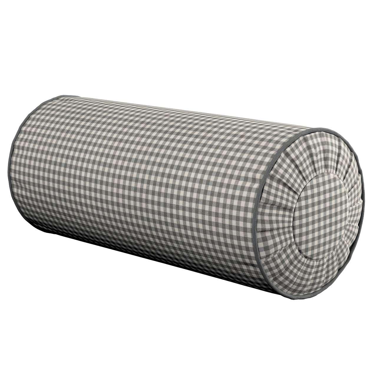 Poduszka wałek z zakładkami w kolekcji Quadro, tkanina: 136-10