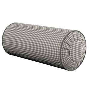 Ritinio formos  pagalvėlės užvalkalas su klostėmis Ø 20 x 50 cm kolekcijoje Quadro, audinys: 136-10