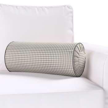 Poduszka wałek z zakładkami Ø20x50cm w kolekcji Quadro, tkanina: 136-10