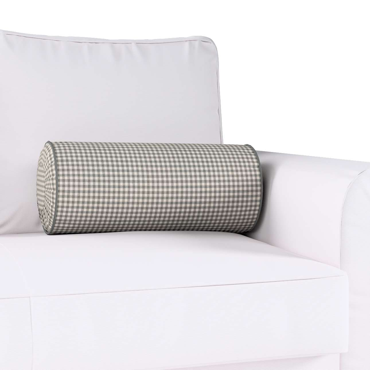 Bolster cushion with pleats in collection Quadro, fabric: 136-10