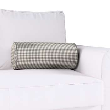 Bolster cushion with pleats Ø 20 × 50 cm (8 × 20 inch) in collection Quadro, fabric: 136-10