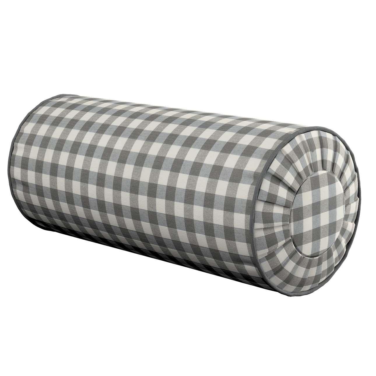 Ritinio formos  pagalvėlės užvalkalas su klostėmis Ø 20 x 50 cm kolekcijoje Quadro, audinys: 136-11