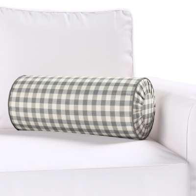 Poduszka wałek z zakładkami w kolekcji Quadro, tkanina: 136-11