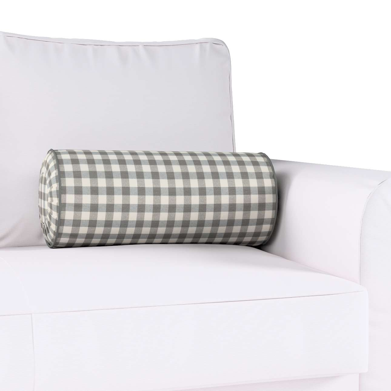 Ritinio formos  pagalvėlė su klostėmis Ø 20 x 50 cm kolekcijoje Quadro, audinys: 136-11