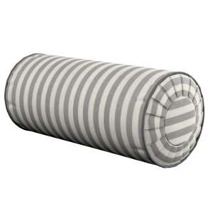 Ritinio formos  pagalvėlės užvalkalas su klostėmis Ø 20 x 50 cm kolekcijoje Quadro, audinys: 136-12