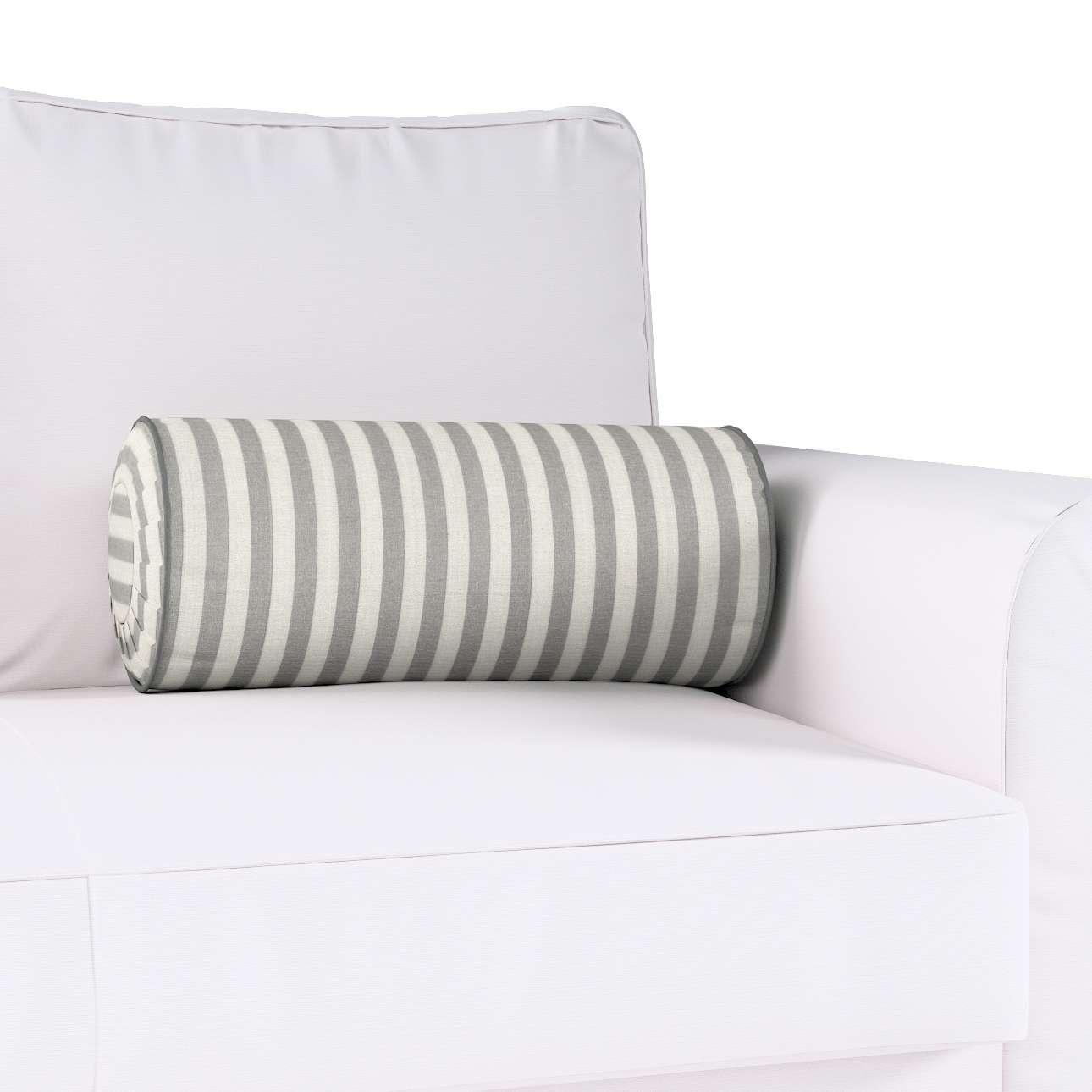 Poduszka wałek z zakładkami w kolekcji Quadro, tkanina: 136-12