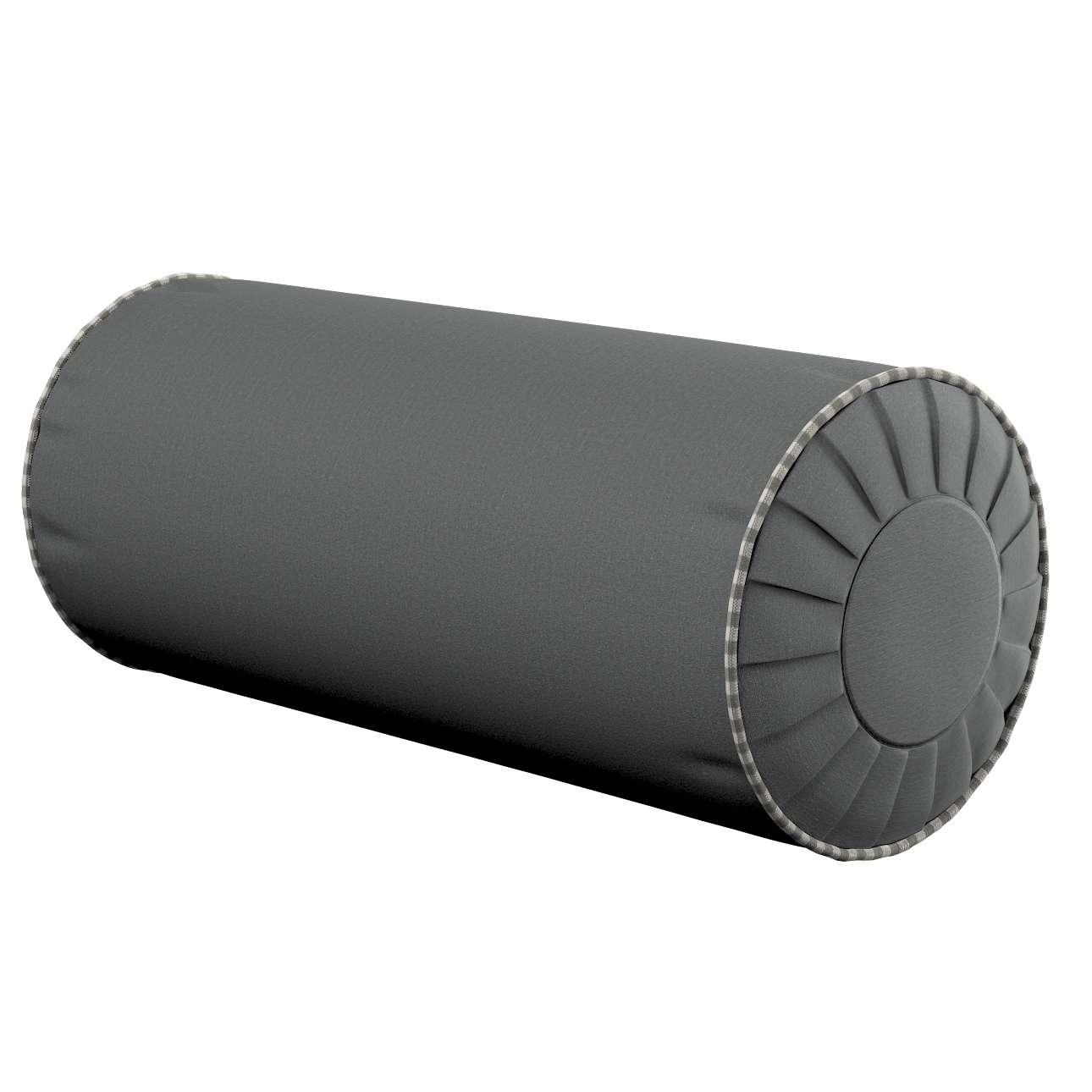 Poduszka wałek z zakładkami Ø20x50cm w kolekcji Quadro, tkanina: 136-14