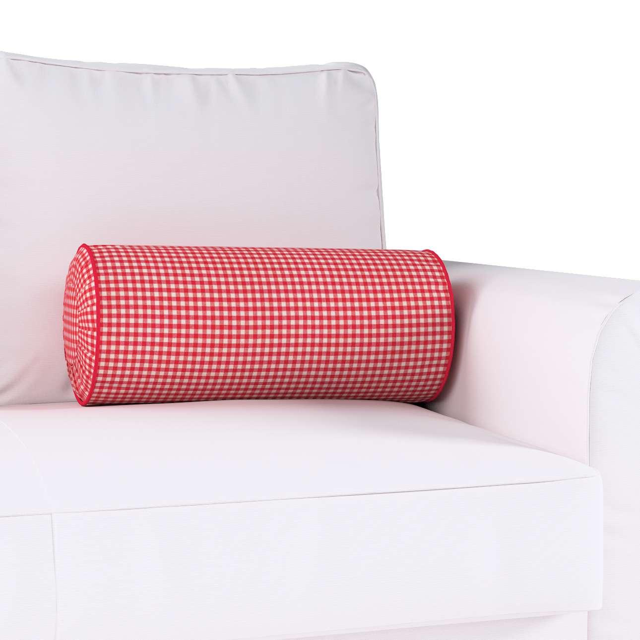 Ritinio formos  pagalvėlė su klostėmis Ø 20 x 50 cm kolekcijoje Quadro, audinys: 136-15
