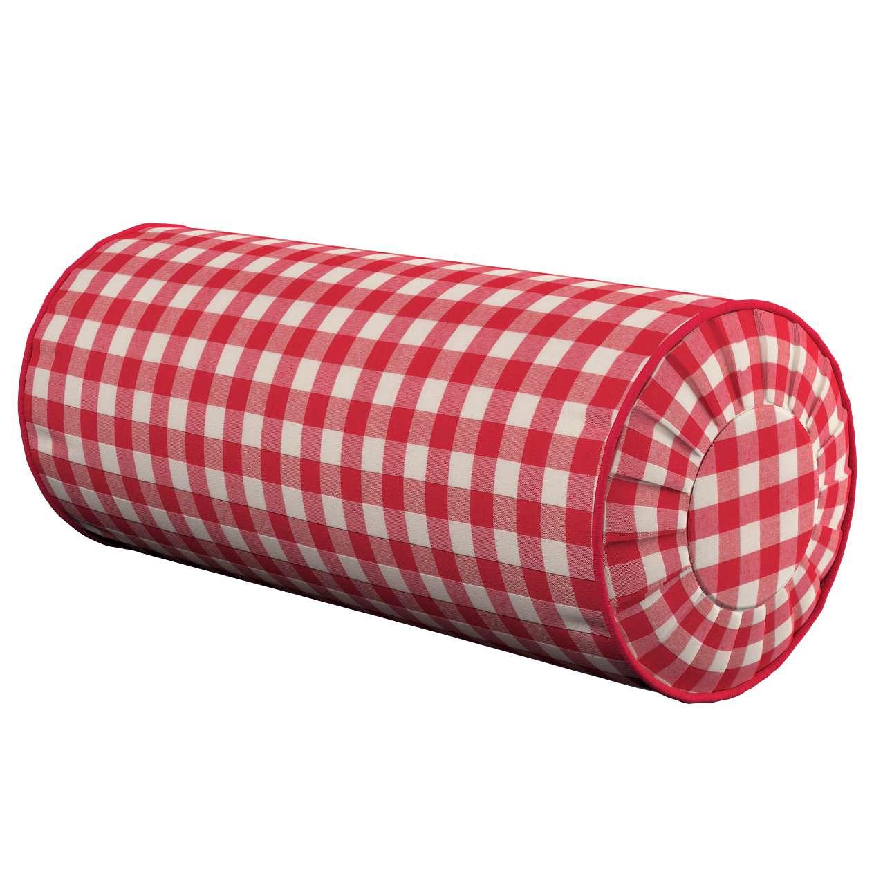 Poduszka wałek z zakładkami w kolekcji Quadro, tkanina: 136-16