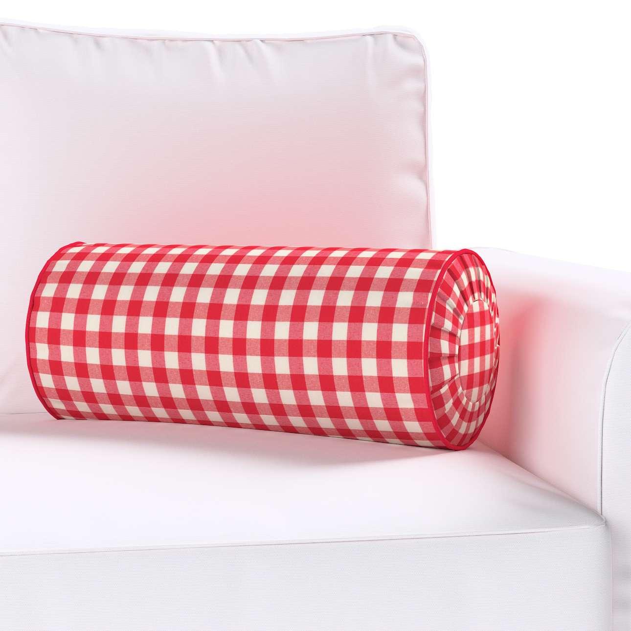 Ritinio formos  pagalvėlės užvalkalas su klostėmis Ø 20 x 50 cm kolekcijoje Quadro, audinys: 136-16