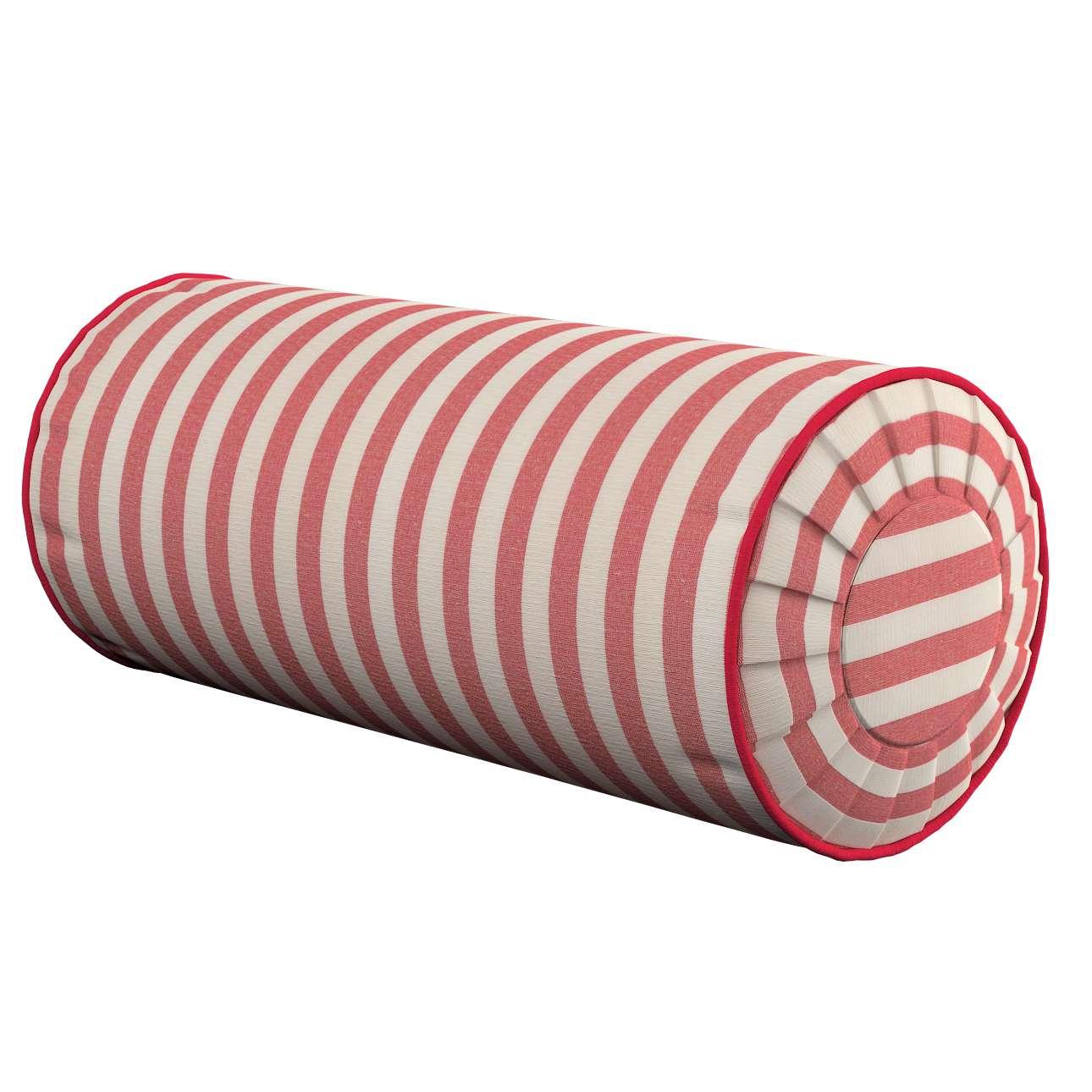 Poduszka wałek z zakładkami Ø20x50cm w kolekcji Quadro, tkanina: 136-17