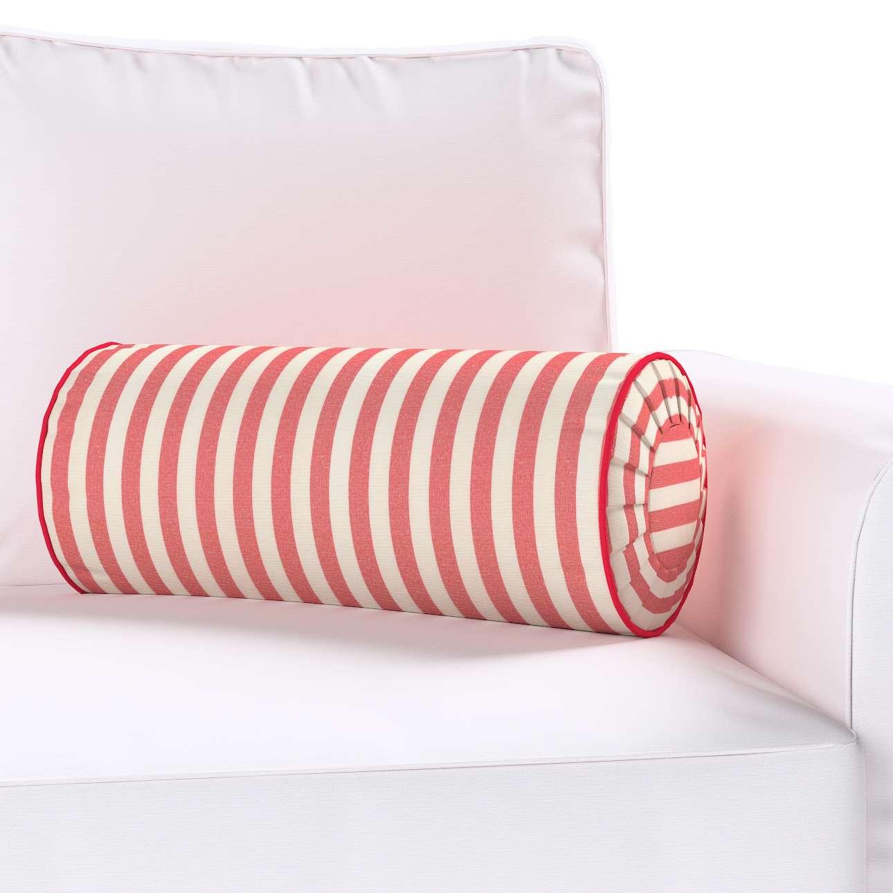 Poduszka wałek z zakładkami w kolekcji Quadro, tkanina: 136-17