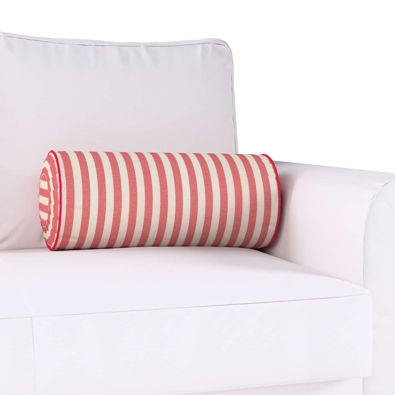 Ritinio formos  pagalvėlė su klostėmis Ø 20 × 50 cm kolekcijoje Quadro, audinys: 136-17