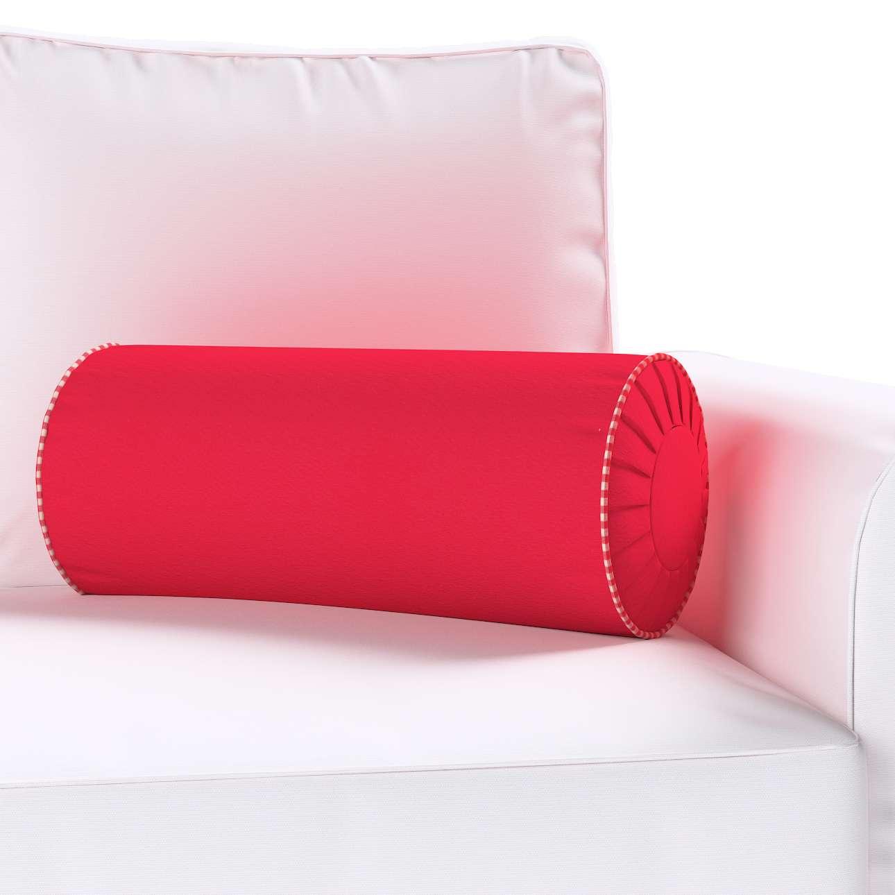 Ritinio formos  pagalvėlė su klostėmis Ø 20 x 50 cm kolekcijoje Quadro, audinys: 136-19