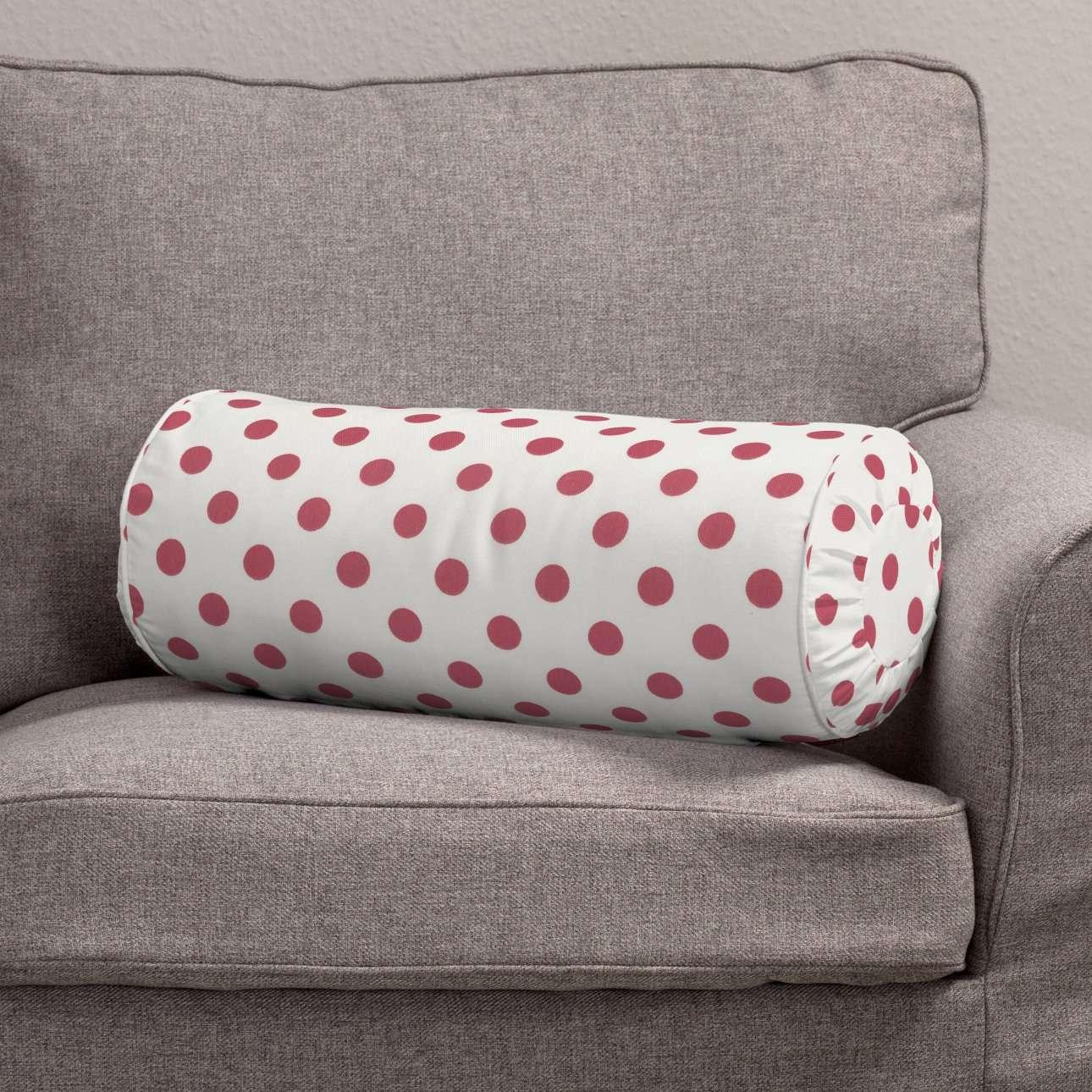 Poduszka wałek z zakładkami Ø 20 x 50 cm w kolekcji Ashley, tkanina: 137-70