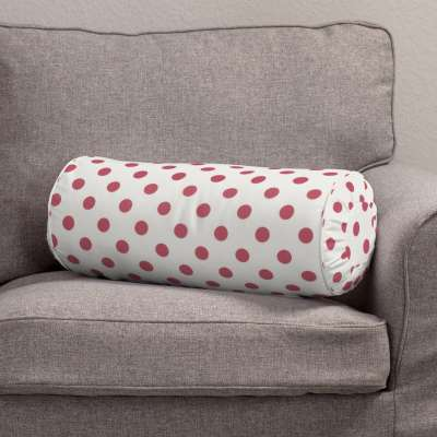 Bolster cushion with pleats 137-70 red spots on white background Collection Little World